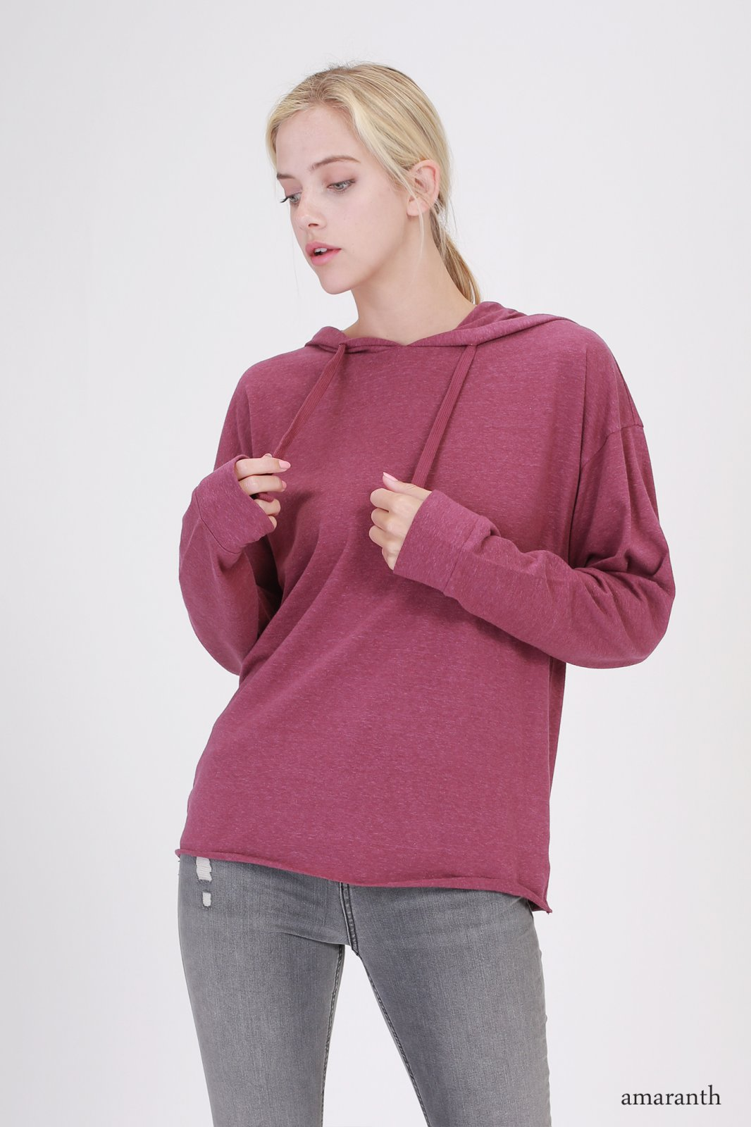 Hooded Top - Long Sleeve AMARANTH