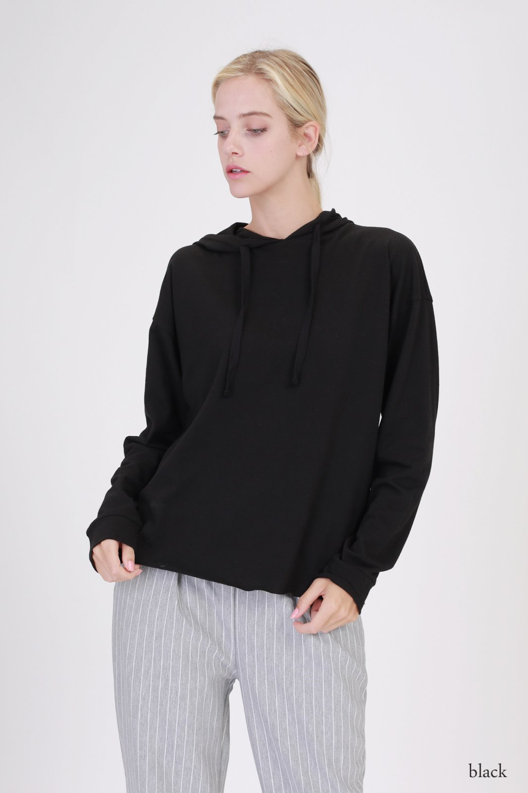 Hooded Top - Long Sleeve BLACK