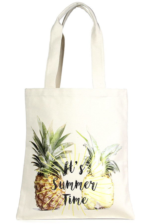 Eco Bag - Its Summer Time PINEAPPLE