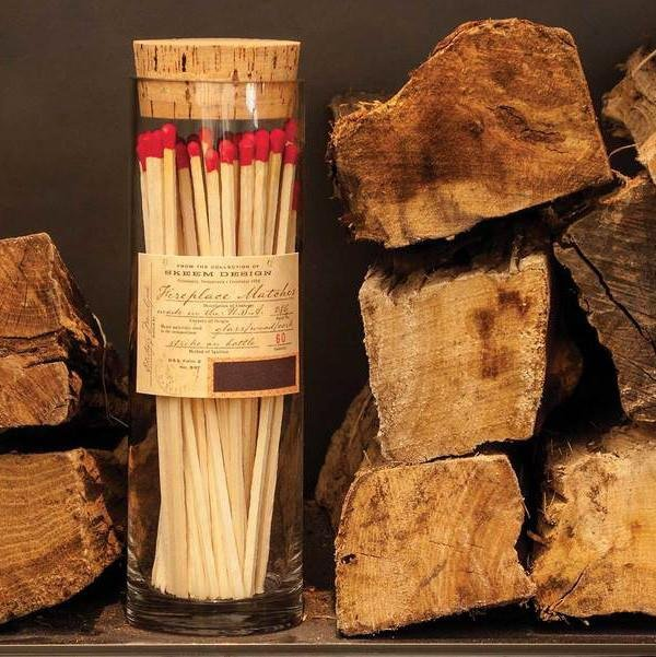Apothecary Fireplace Matches- Red