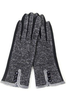 Faux Lined Touch Gloves BLACK