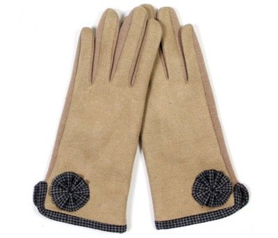 Faux Suede Touch Gloves TAUPE