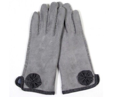 Faux Suede Touch Gloves GRAY