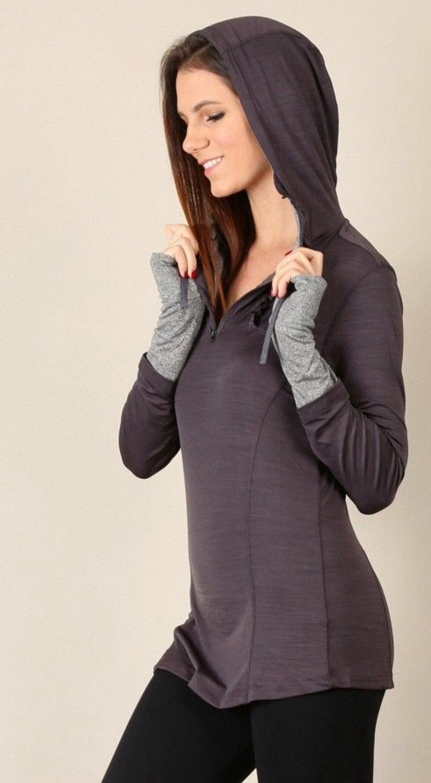 MYSTREE Active Wear - Charcoal Yoga Top * Women's
