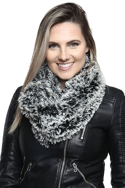 Faux Fur Infinity Snood BLACK