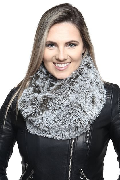 Faux Fur Infinity Snood OLIVE