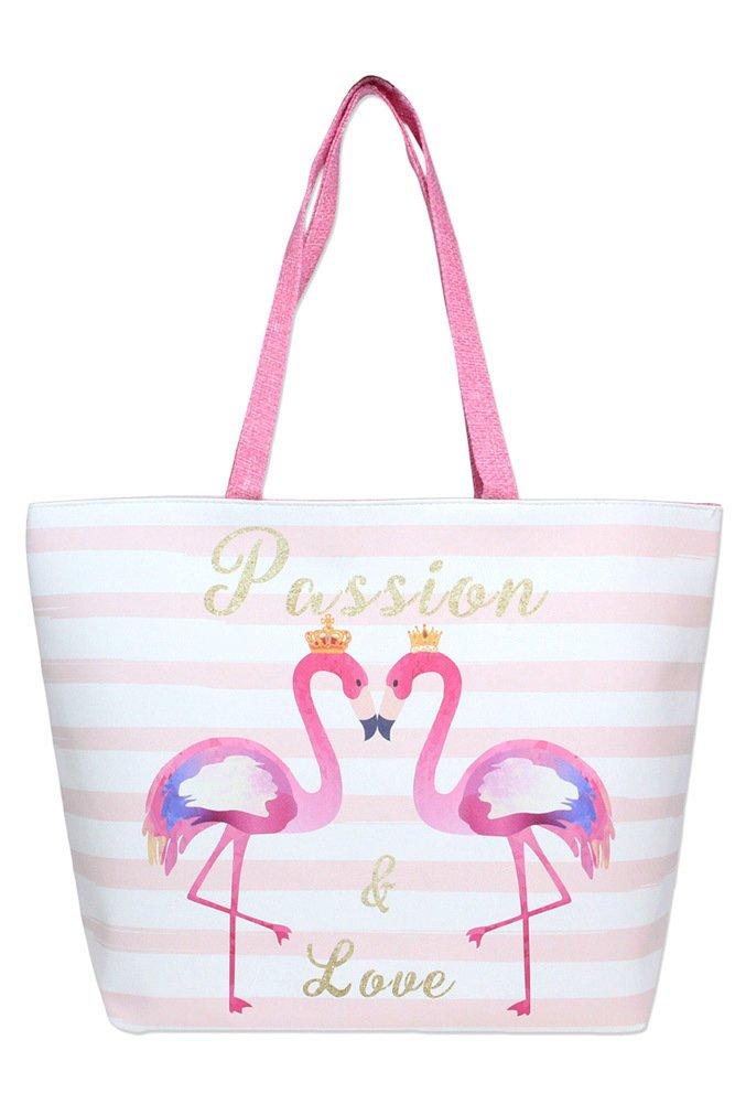 Beach Bag -  Flamingo * Vegan Product