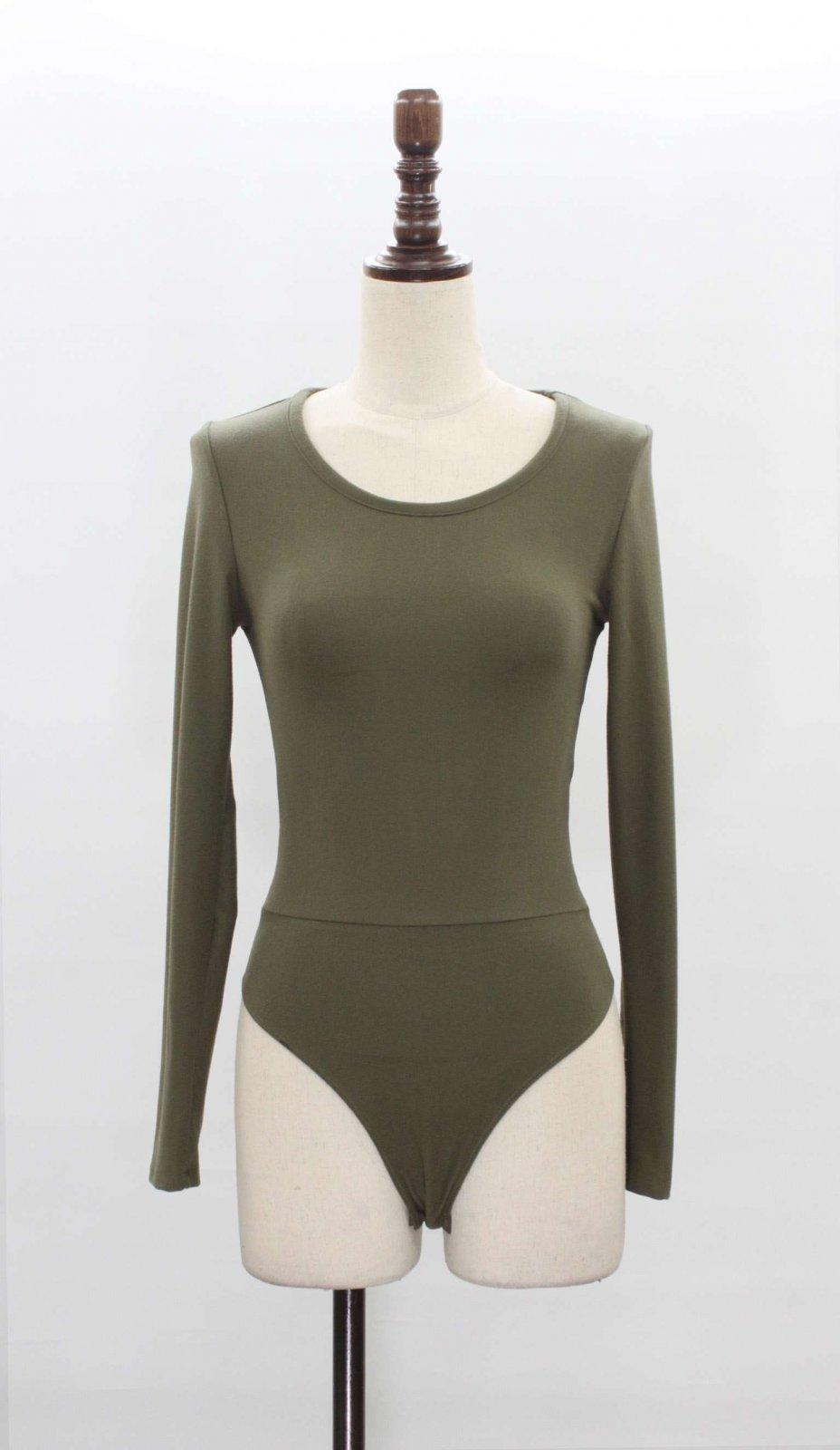 Ripped Back Bodysuit * JR / Miss / Petite OLIVE