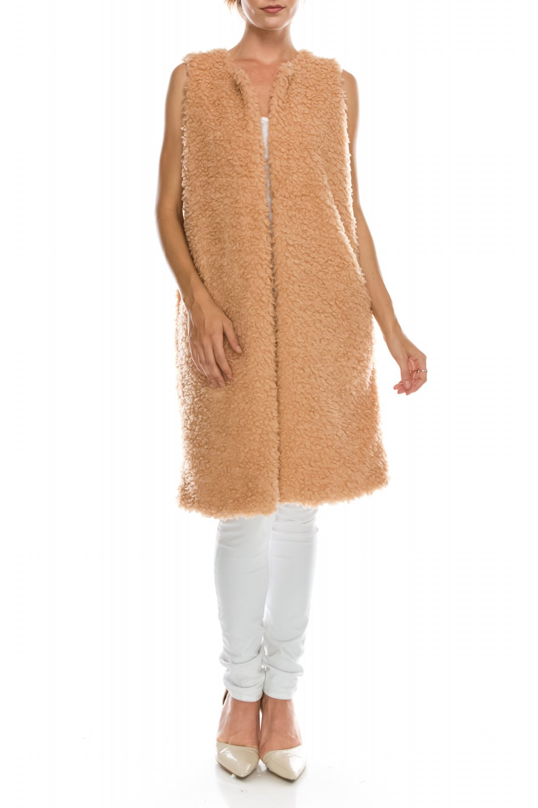 Jacket - Long Sherpa Vest BLUSH