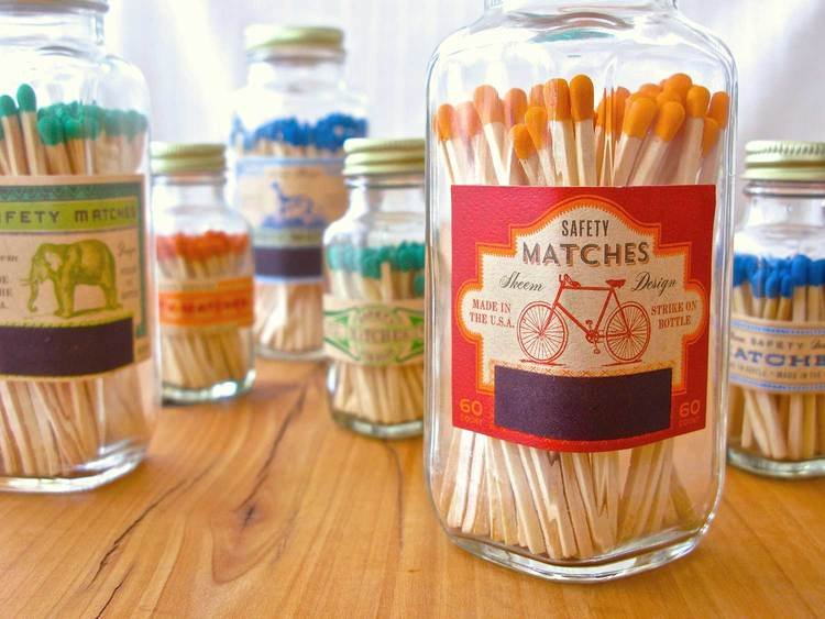 Medium Match Bottle - Orange Bike