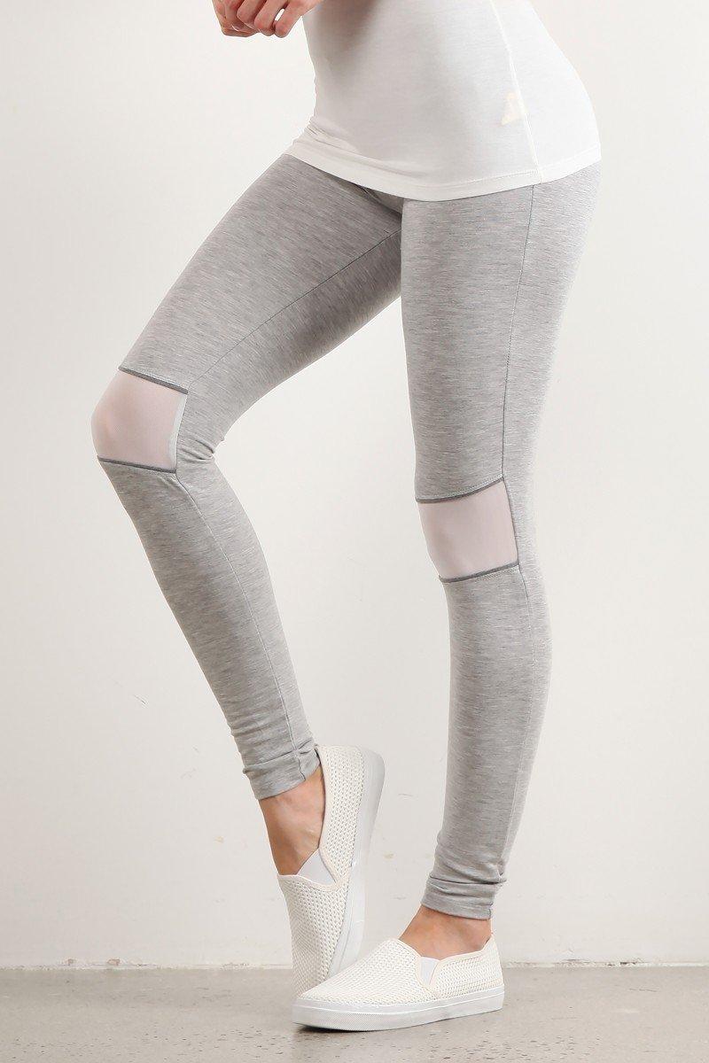 MYSTREE Active Wear - Grey Full Length Leggings *  Women's