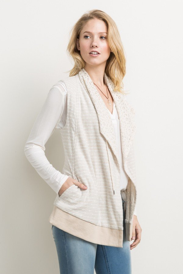 MYSTREE Jacquard Vest - Jacket * Womens