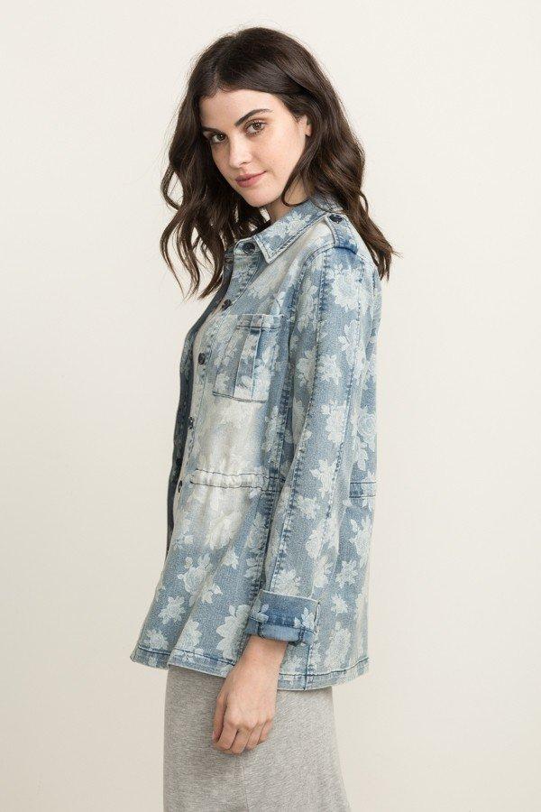 MYSTREE Denim -  Jacquard Floral Jacket * Women's