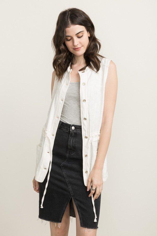 MYSTREE Jacket -  Ivory Utility Vest * Women's