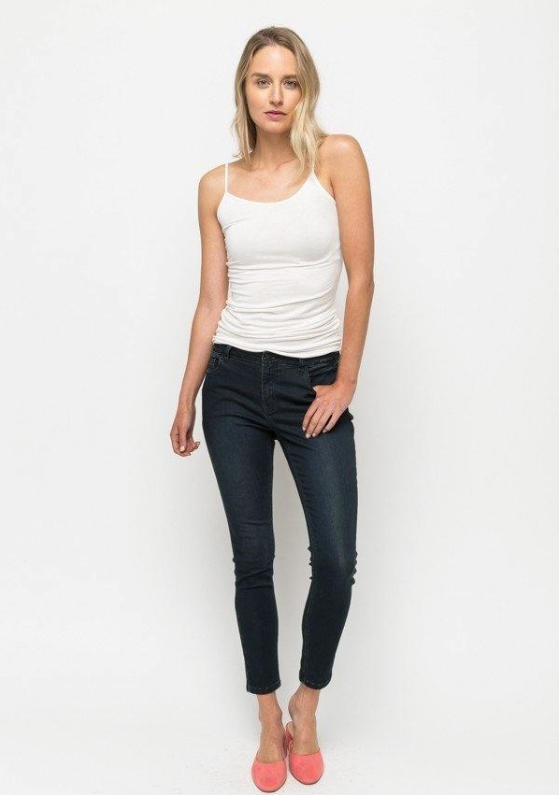 DENIM MYSTREE - Blackberry or Navy Skinny Jeans