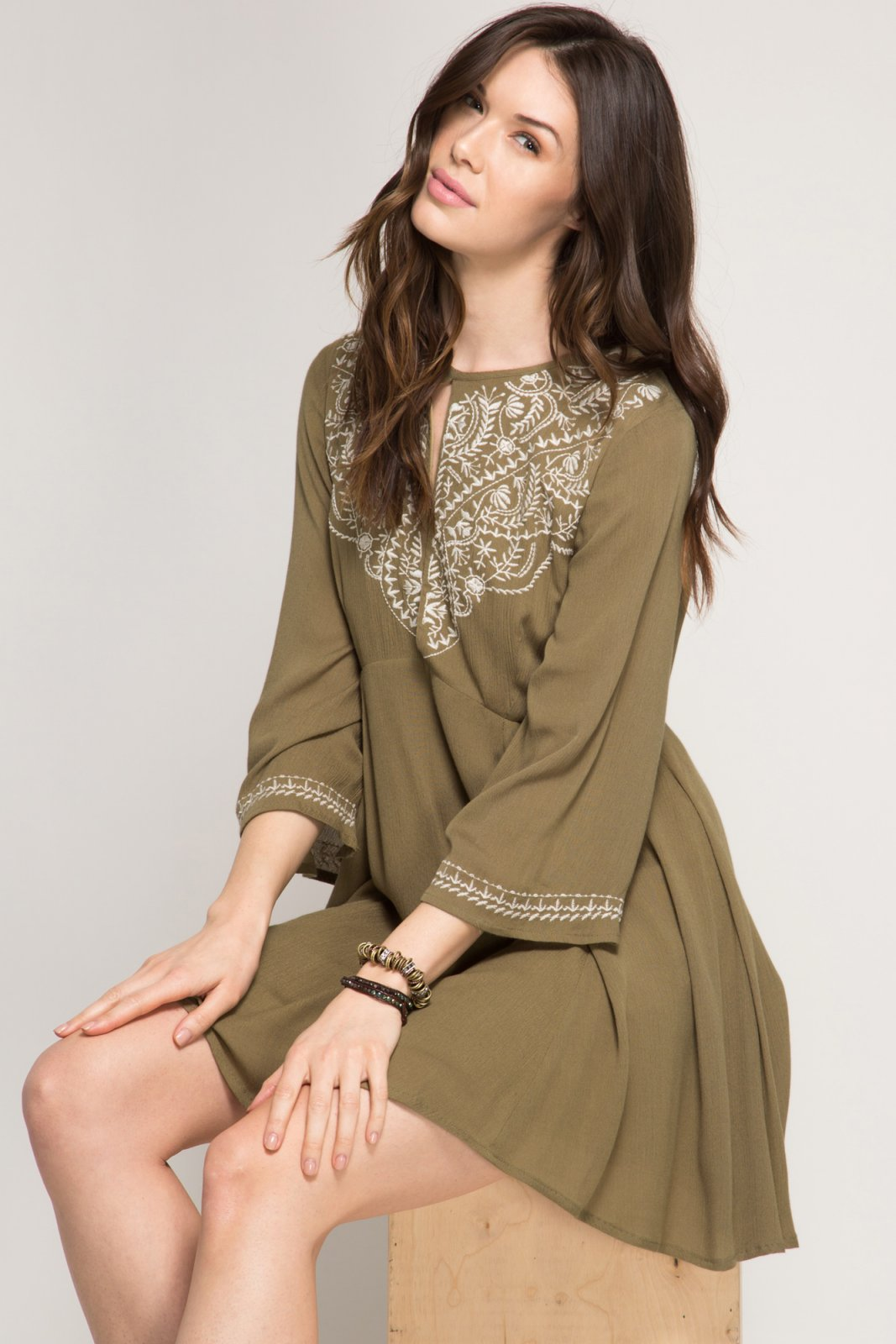 how to buy official images on sale Dress - Bohemian Embroidered *Jr / Miss / Adult Petite
