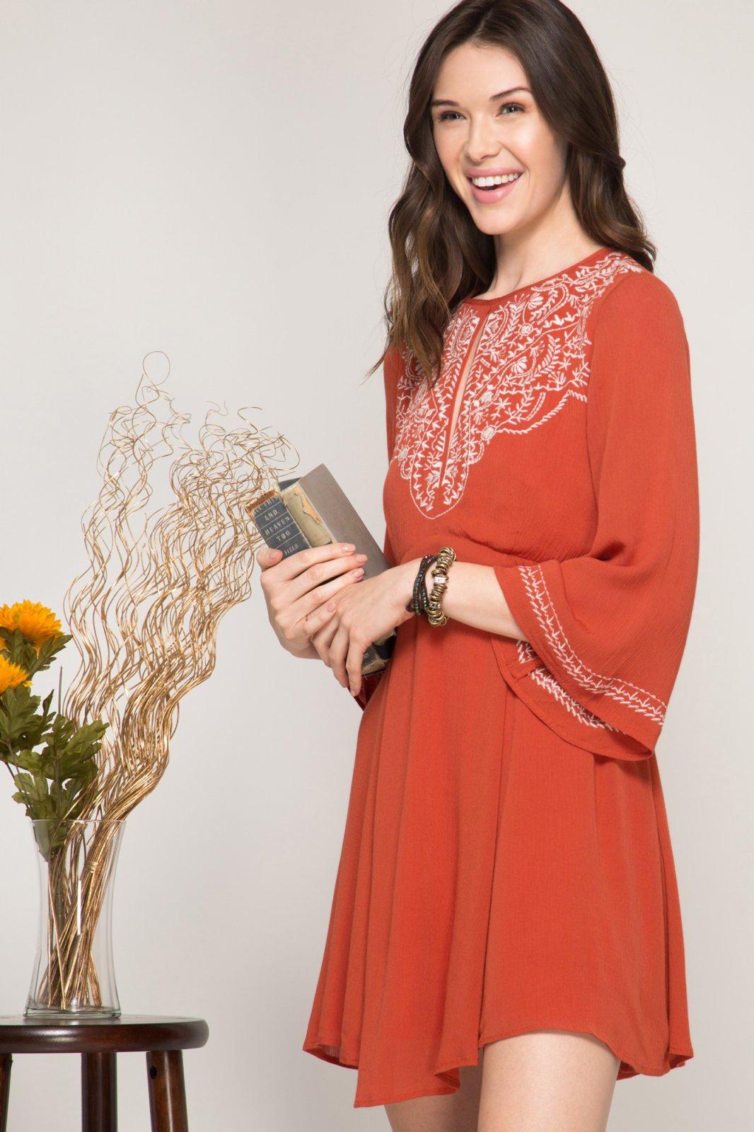 Dress  - Bohemian Embroidered *Jr / Miss / Adult Petite