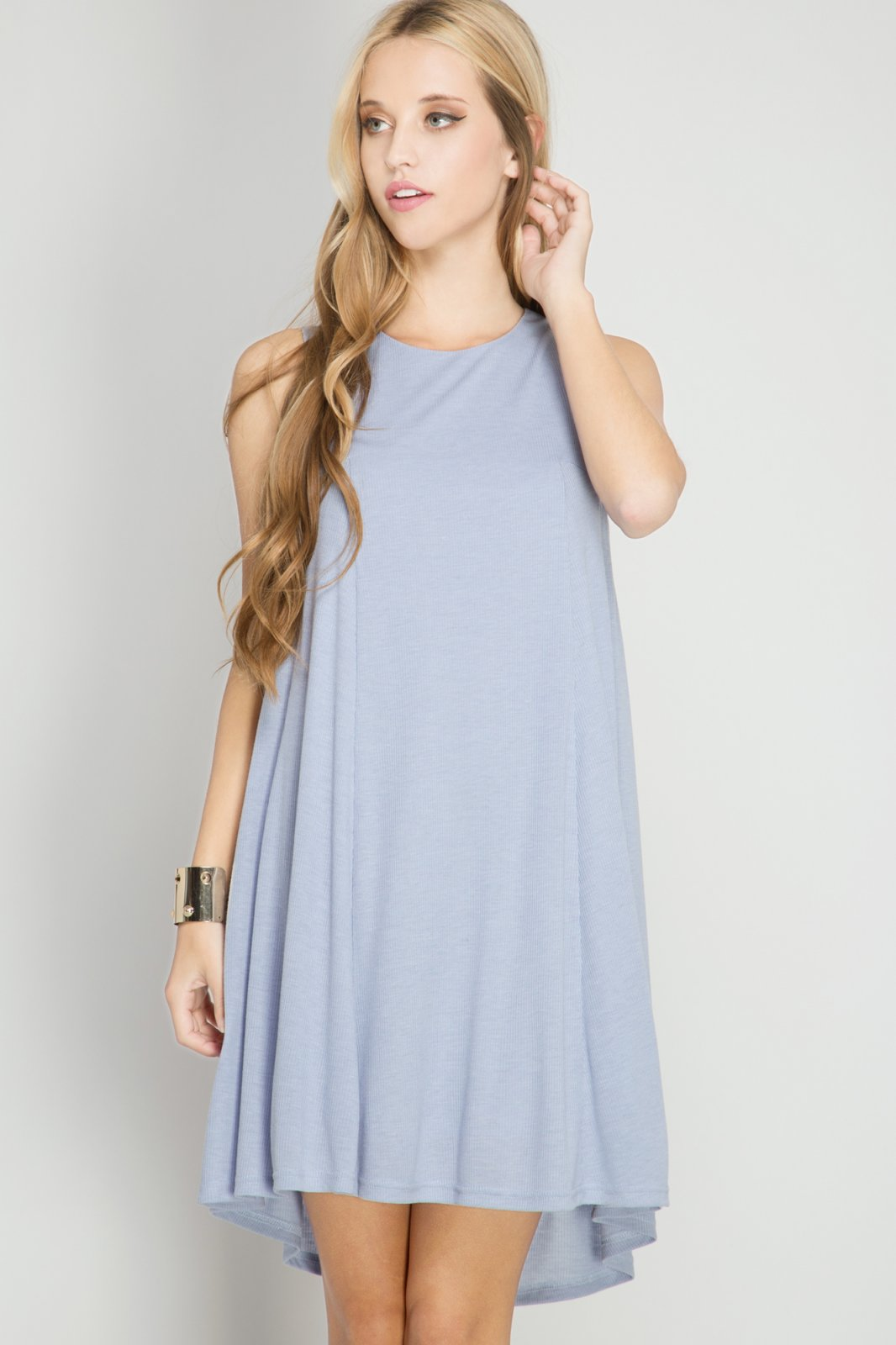 DRESS Ribbed Shift * Jr / Ms / Adult PT MISTY BLUE