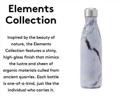 Swell Bottle - White Marble