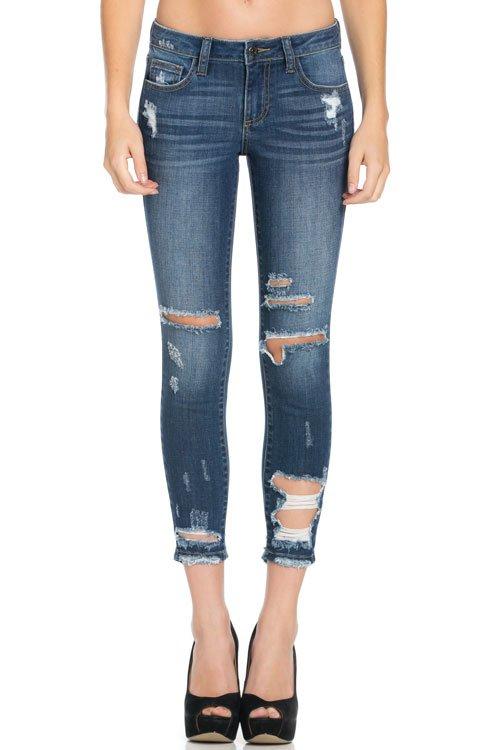 Denim - Dark Destroyed Jeans