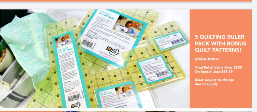 Quilters Select 5 QUILTING RULER PACK WITH BONUS QUILT PATTERNS!