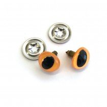 Toy Cat Eyes Crystal 12mm (1/2) Yellow - 10pk (5pairs)