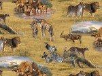 Elizabeth's Studio African Animals Allover