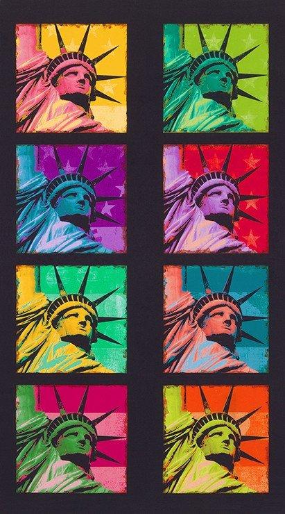 Robert Kaufman Americana Bright Statue of Liberty Panel