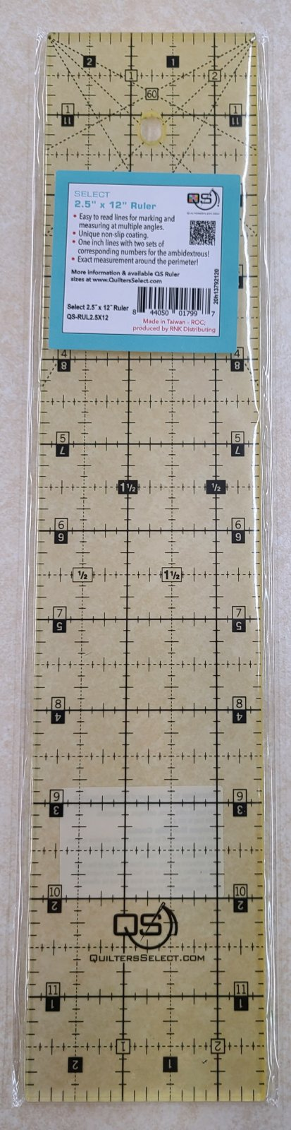 Quilters Select 2.5 x 12 Ruler