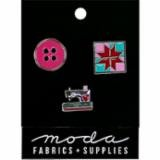 Enamel Pins Notions 3 count Pink