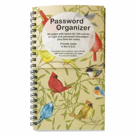 Password Book Birds