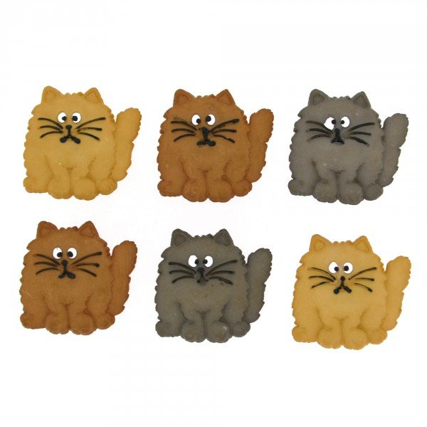 Dress It Up Fat Cats 8ct Button Pack