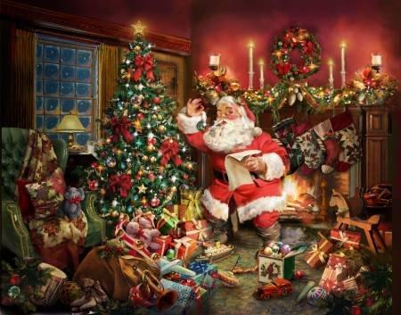 Hoffman Christmas Santa Claus Digital Panel