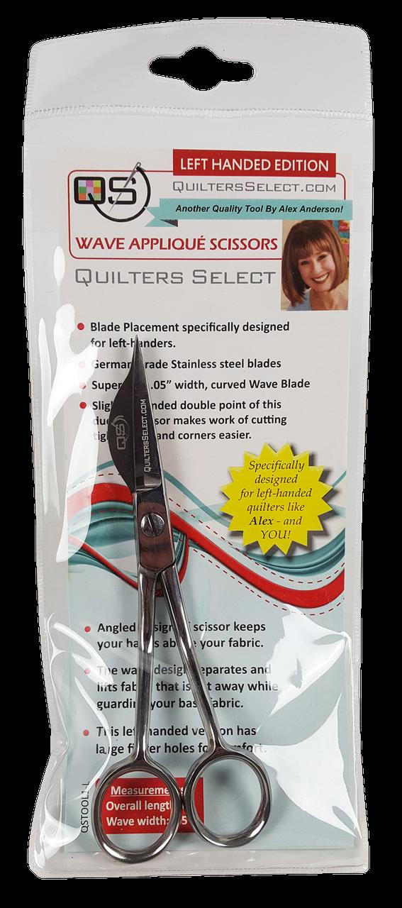 Quilters Select Wave Applique Scissors LEFT HANDED