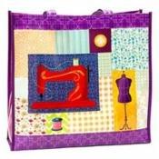 Multi Purpose Shop Tote Sew Purple
