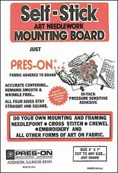Press-On Self Stick Mounting Board 9X12