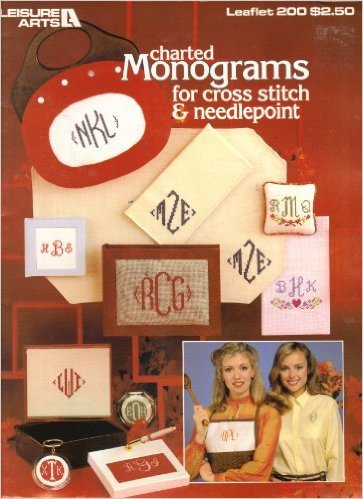 Charted Monograms for Counted Cross Stitch & Needlepoint