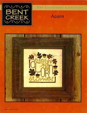Acorn Counted Cross Stitch Chart