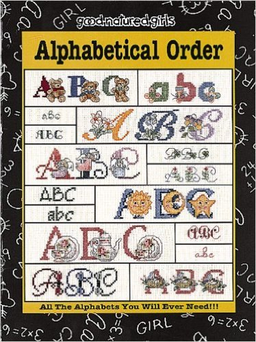 Alphabetical Order Counted Cross Stitch