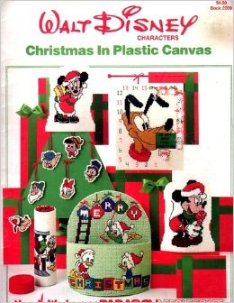 Walt Disney Characters Christmas in Plastic Canvas