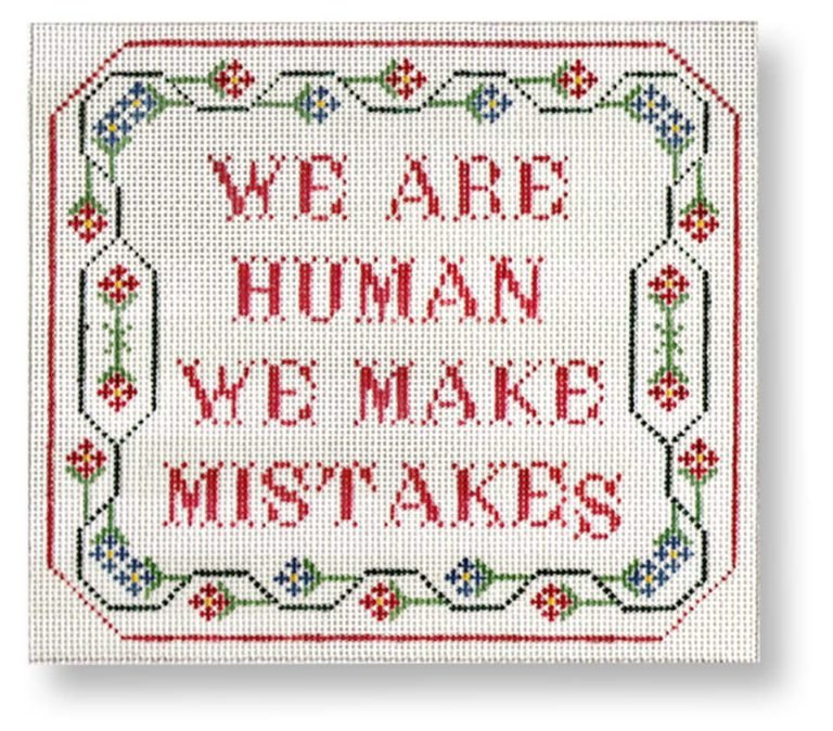 We are human, we make mistakes