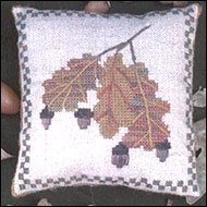 Acorn Pin Pillow Counted Cross Stitch Chart