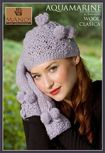 Manos del Uruguay Pattern Leaflet: Aquamarine Hat & Gloves