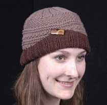 The Diana Collection Aran Flap Cap Kit Brown