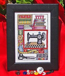 Sewing Treasures Counted Cross Stitch Chart