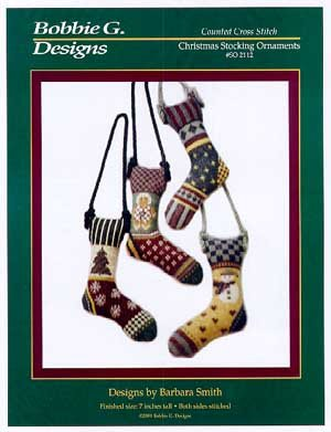 Christmas Stocking Ornaments Counted Cross Stitch Chart