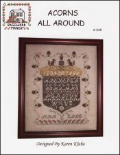 Acorns All Around Counted Cross Stitch Chart