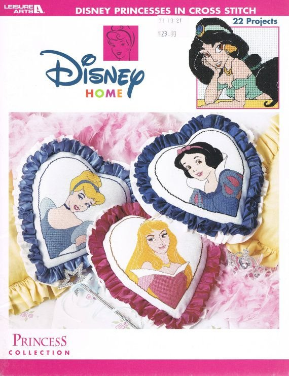 Disney Princess Collection Counted Cross Stitch Chart