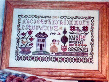 Friendship Garden Sampler Counted Cross Stitch Chart