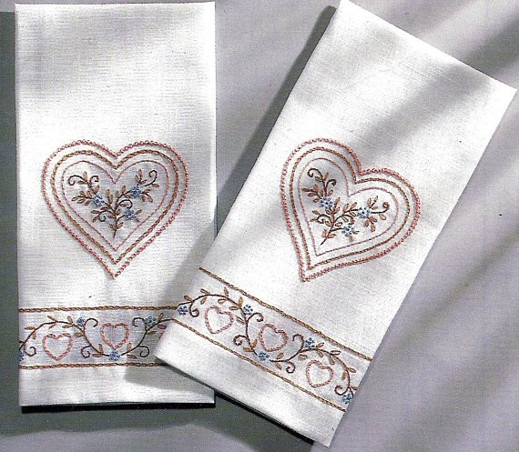 Country Towels - Set of 2 - White - Kit